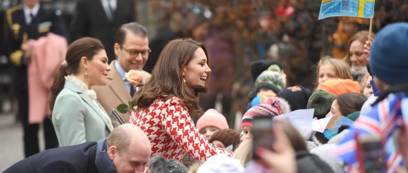 Duke and Duchess of Cambridge on the Royal Visit to Sweden