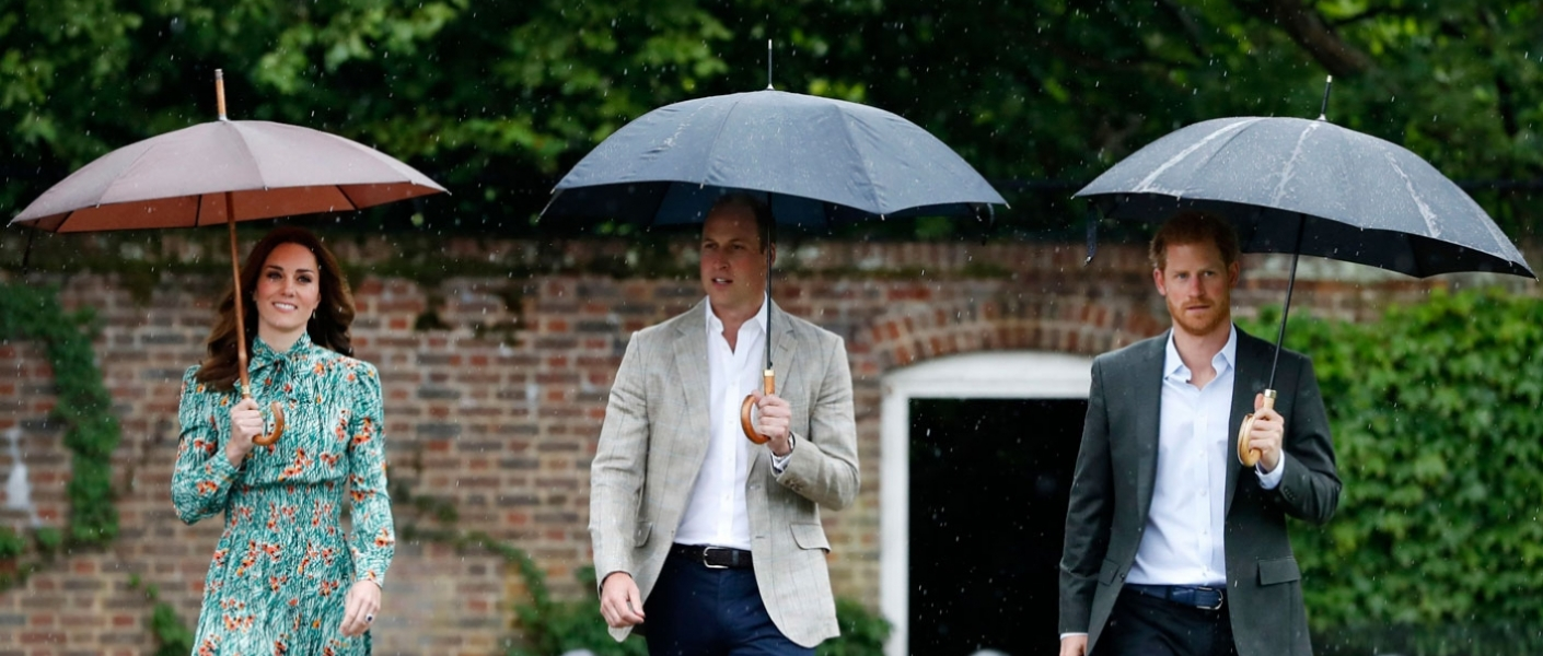 Their Royal Highnesses visit the white garden in Kensington Palace