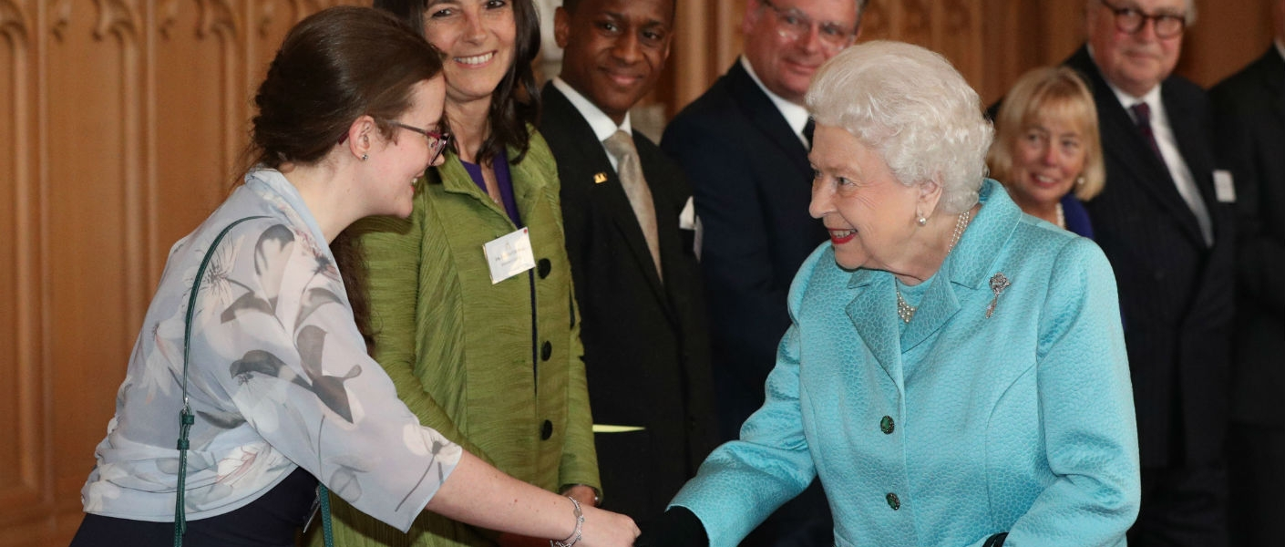 the Queen at the NCVO reception
