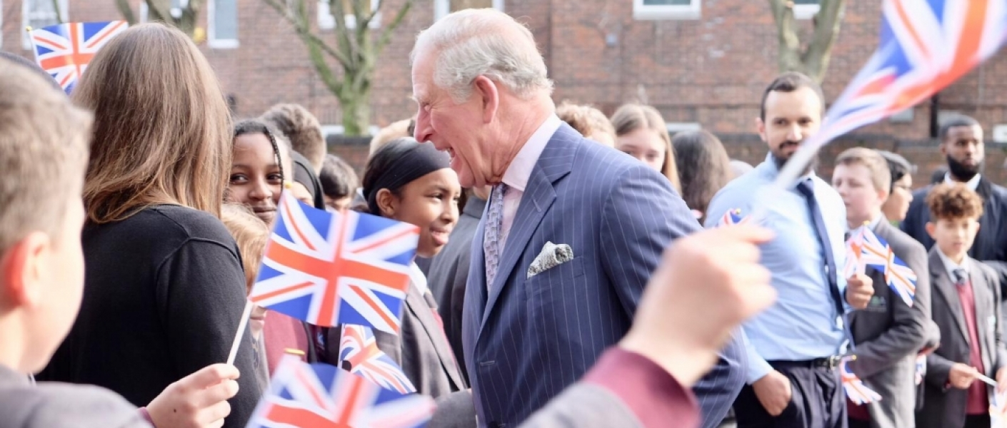 The Prince of Wales at the Kensington Aldridge Academy