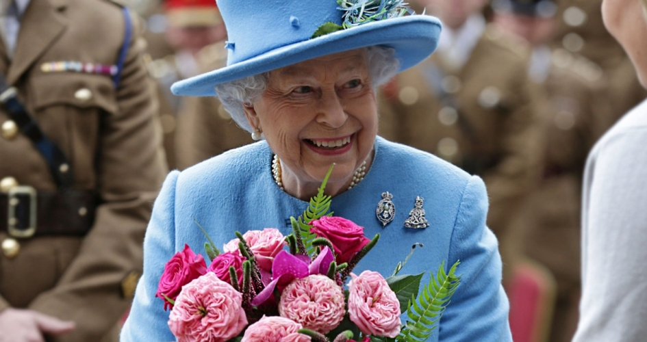 The Queen visits The household Cavalry in Hyde Park
