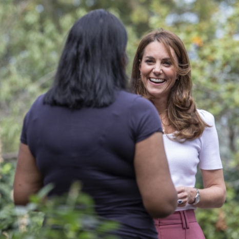 "👏 ""To you and your army of volunteers out there, a huge well done. I, like you, would love to see peer-to-peer support more embedded and celebrated in communities and society as a whole."" The Duchess of Cambridge. . Today Her Royal Highness found out how parents are supporting each other across the UK through a number of voluntary initiatives. . She spoke to some of the many thousands of parents who use their time, experience and knowledge to support other parents and families. Peer-to-peer supporters can range from paid professionals and trained volunteers to more informal parent networks. . Organisations include: . @homestartuk Parents 1st UK Island House Charity Community Parent Programme @blackpoolbetterstart @nctcharity Applied Research Collaboration North West coast Coram Family and Childcare @leedsdads"