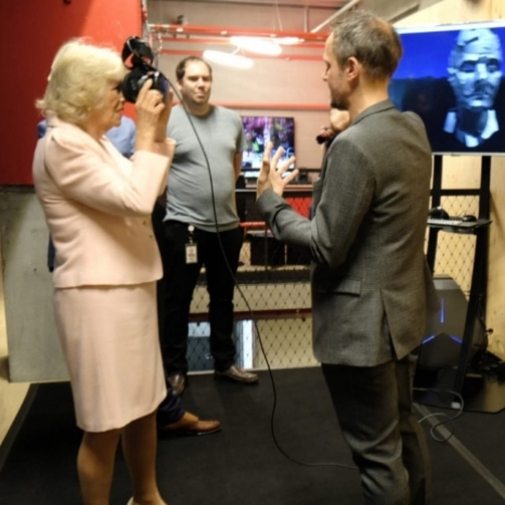 Today The Prince of Wales and The Duchess of Cornwall have carried out engagements in London to celebrate technology, innovation and sustainable fashion. TRH first visited the @youtube Space to meet YouTubers and learn about @googleartsculture projects. The project is an immersive way for users to explore art, history and wonders of the world. It puts over 1,500 museums at users' fingertips. Then The Prince of Wales joined YouTuber @joe_sugg – who has a huge digital following but who is also a trained roof thatcher. The Prince took part in some traditional thatching. HRH champions traditional skills such as thatching through his charity. HRH also joined a discussion with his youth charities about violent crime and how social media can help. Meanwhile, The Duchess joined YouTuber @LouisePentland for a chat about children's literacy and then took part in a
