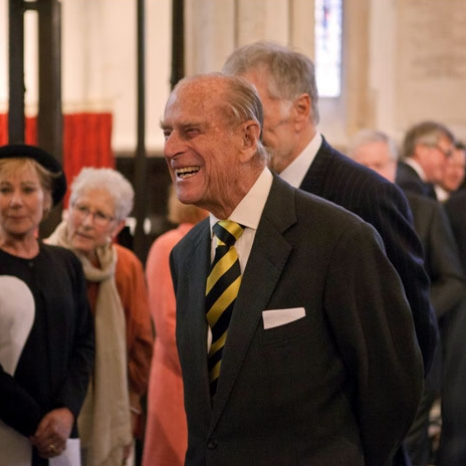 The Duke of Edinburgh attends a Celebration of Shakespeare Service in Southwark Cathedral, part of the #shakespeare400 anniversary with @The_Globe on Sunday.