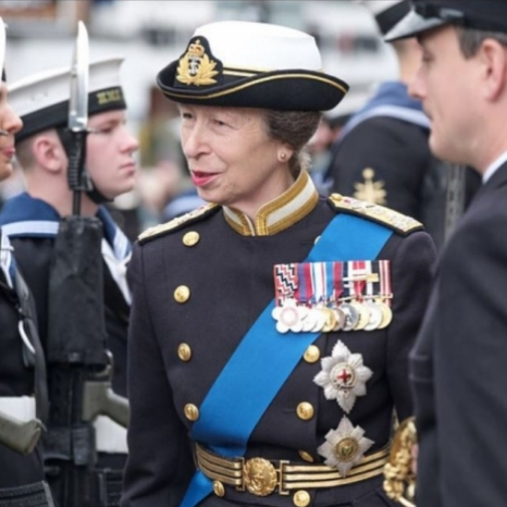 The Princess Royal attended HMS Albion's Freedom of The City parade in Chester last week. 'Freedom of the City' is an honour which allows the ship's company to process through the streets.  Her Royal Highness received the salute before inspecting Royal Navy service men and women.