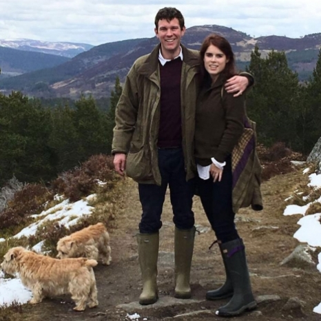 Princess Eugenie and Mr. Jack Brooksbank and their families have also released pictures of the couple together today. This first photograph was taken during a visit to Balmoral in the summer of 2016. Swipe for another photograph of The Couple celebrating New Year's last year. #RoyalWedding