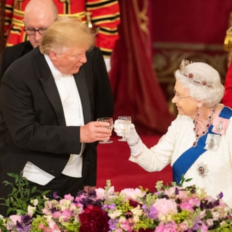 'Tonight we celebrate an alliance that has helped to ensure the safety and prosperity of both our peoples for decades, and which I believe will endure for many years to come.' This evening, a State Banquet was held in the Ballroom at Buckingham Palace in honour of the State Visit of the President and Mrs Trump.  In her speech at the banquet, The Queen spoke of the mutual aims and beliefs of both countries, saying, 'Mr President, as we look to the future, I am confident that our common values and shared interests will continue to unite us.' The Prince of Wales, The Duchess of Cornwall, The Duke and Duchess of Cambridge, The Duke of York and The Earl and Countess of Wessex also attended the banquet. 📸 Press Association