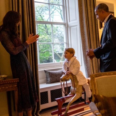 Prince George thanks @BarackObama for his rocking horse, given to him when he was born
