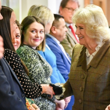 Congratulations to @prospecthospice, who celebrated their 40th anniversary this week!  The Duchess of Cornwall joined hospice carers and family members to mark the milestone and unveiled a new embroidery, hand-sewn by Marlborough Embroiderers Guild.  The hospice supports a community of more than 300,000 people in Swindon, Marlborough and North East Wiltshire, through a range of services for patients, including support after the death of a loved one.  HRH supports the hospice in her position as President.  During her visit she had tea with members of the Bereavement Support Group, who have lost relatives supported by the charity. . © PA Images