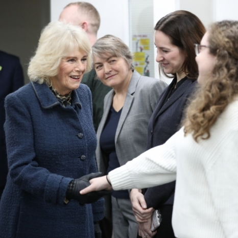 The Duchess of Cornwall visits a Barnardo's centre