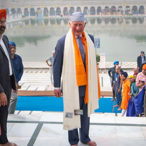 The Prince of Wales kicked off this year's Autumn Tour today with engagements in New Delhi, India. 🇮🇳 #RoyalVisitIndia  In celebration of the 550th anniversary of the birth of Guru Nanak, The Prince of Wales visited Bangla Sahib Gurdwara, where HRH met members of the Sikh community and tried his hand at making a chapati! The visit follows a week of festivities celebrating the founder of Sikhism.  Earlier today, The Prince met @presidentofindia at Rashtrapati Bhavan and planted a tree in the Presidential Garden. 🌳 HRH also visited the India Meteorological Department where, in the National Weather Forecasting Centre, HRH heard about the the new cyclone forecasting system allowing faster preparation and response time for India and other countries. 🌀  The Prince was also able to test out one of the city's e-rickshaws, a sustainable alternative to traditional transport, which have been developed by clean energy company SUN Mobility. 📷 Press Association / @ukinindia