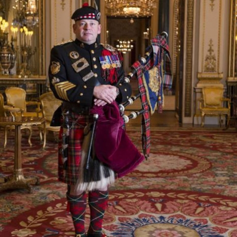 The position of Queen's Piper is one of the highest accolades available to a piper serving in the Armed Forces.  The history of the post dates back to the time of Queen Victoria. She first heard bagpipe music in 1842, when she and Prince Albert visited the Highlands for the first time, recalling: