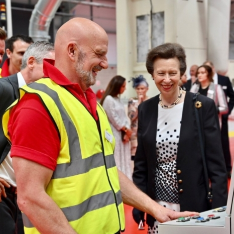 Yesterday, The Princess Royal visited Bradford to open a new textile factory.  A new manufacturing facility has been created at Texfelt, with £9 million being invested to future-proof the textile industry in Yorkshire.  The company, which is family run, produces a new eco-engineered carpet underlay which uses upcycled bottles in its production.  The plant is a collaboration between Texfelt and four other machinery manufacturers and is now using modern technology in an effort to become more environmentally sustainable.