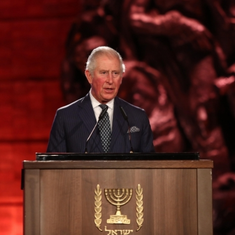 """The lessons of the Holocaust are searingly relevant to this day. Seventy-five years after the Liberation of Auschwitz-Birkenau, hatred and intolerance still lurk in the human heart, still tell new lies, adopt new disguises, and still seek new victims."" . Today, The Prince of Wales delivered a speech at the World Holocaust Forum at @yadvashem to commemorate the 75th anniversary of the Liberation of Auschwitz and International Holocaust Remembrance Day.  To read HRH's speech in full, follow the link in our bio.  #WHM2020JLM #HMD2020"