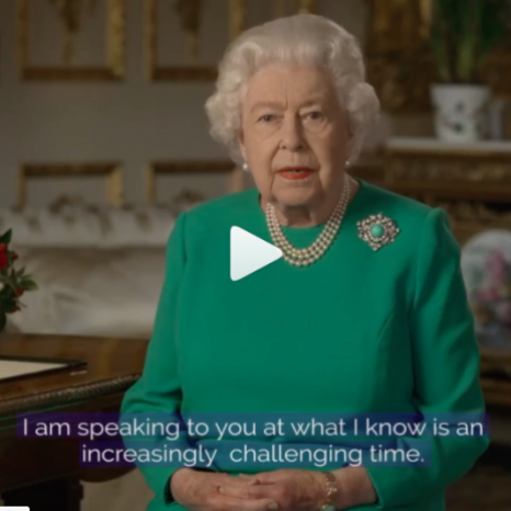 Her Majesty The Queen addresses the UK and Commonwealth in a special broadcast recorded at Windsor Castle. . 'We should take comfort that while we may have more still to endure, better days will return: we will be with our friends again; we will be with our families again; we will meet again.' . Watch The Queen's broadcast in full on our IGTV channel.