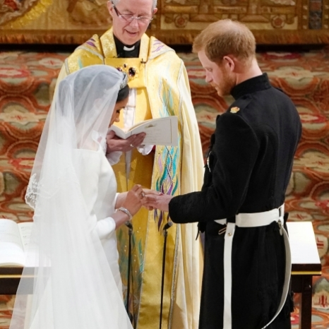 The Duke and Duchess of Sussex's wedding service was conducted by the Archbishop of Canterbury Justin Welby and took place in St. George's Chapel. #RoyalWedding