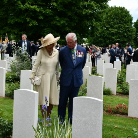 Today, The Prince of Wales and The Duchess of Cornwall attended engagements in Normandy to commemorate #DDay75. On 6th June 1944, allied forces landed on the beaches in Normandy, launching one of the largest military operations in history. To begin, Their Royal Highnesses attended the @royalbritishlegion Service of Remembrance at Bayeux Cathedral. Following this, The Prince and The Duchess attended the British Legion Service of Remembrance at @commonwealthwargraves in Bayeux, where His Royal Highness laid the first wreath at the Cross of Sacrifice. #DDay75