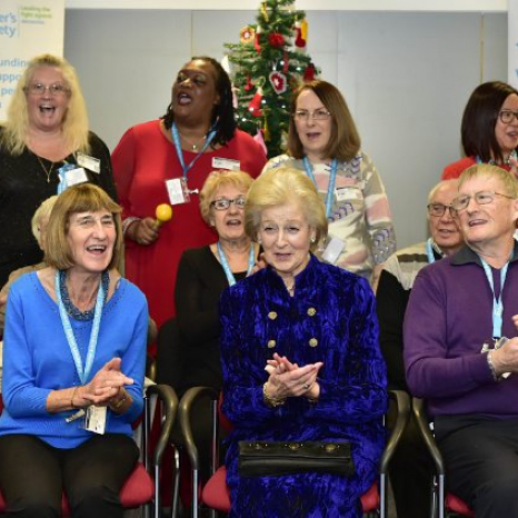 Princess Alexandra meets 'unsung heroes' from Alzheimer's Society