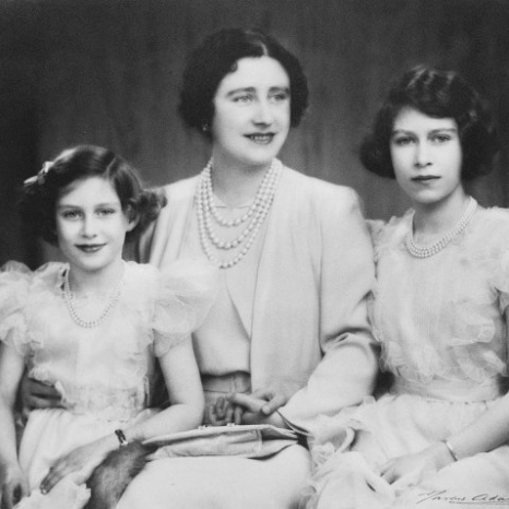 The Queen Mother with Princesses Elizabeth and Margaret