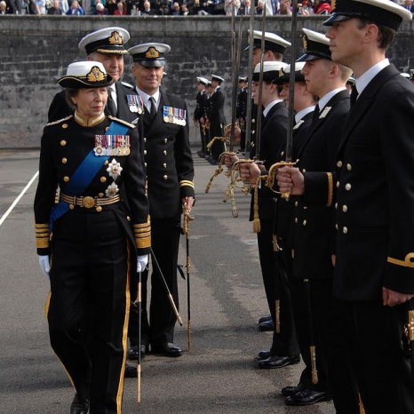 The Princess Royal and Royal Navy Cadets