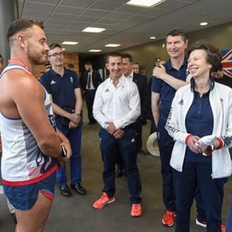The Princess Royal visits Team GB in Brazil