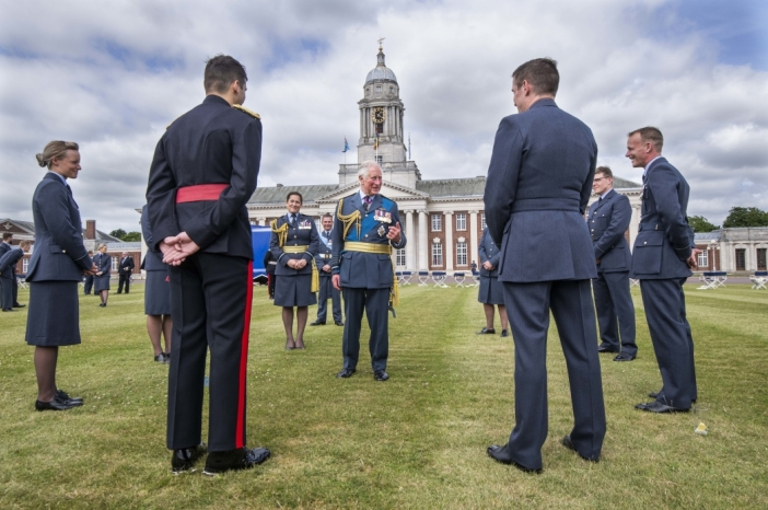 The Prince of Wales at an RAF Graduation Ceremony.