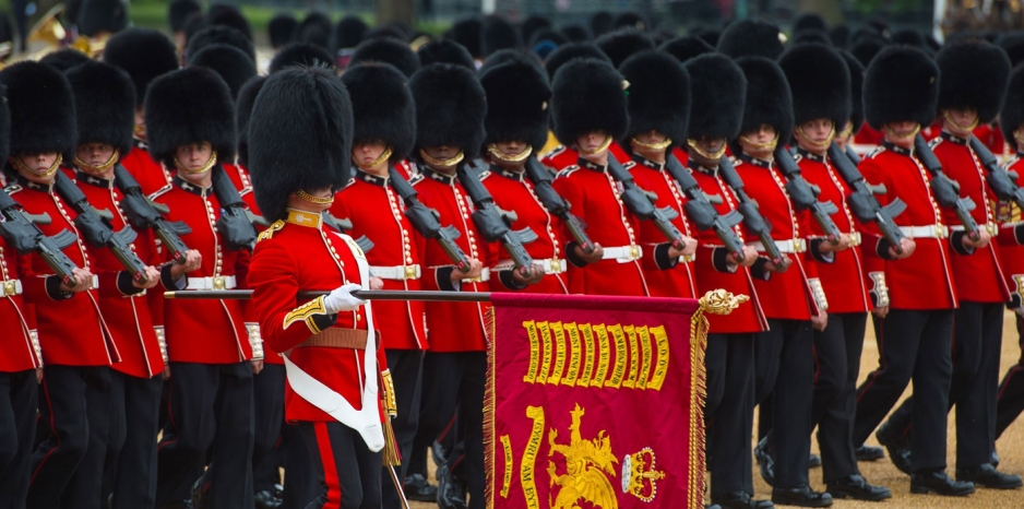 a display of military precision and horsemanship to mark the queen s official birthday